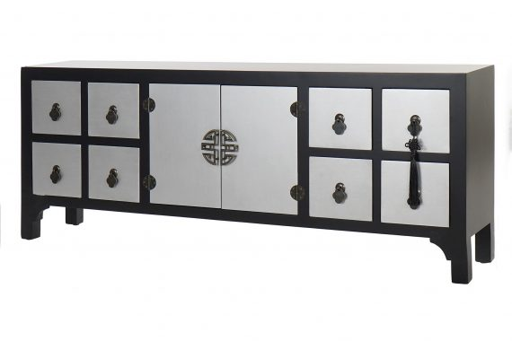 mueble-television-oriental-negro-plata