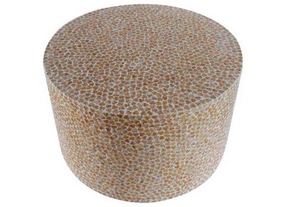 mesa-auxiliar-redonda-mosaico-beige-nacar