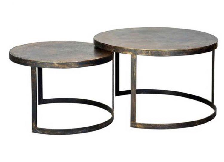 mesas-centro-nido-redondas-metal-bronce
