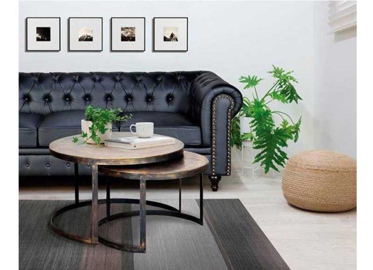 mesas-centro-nido-redondas-metal-bronce-salon