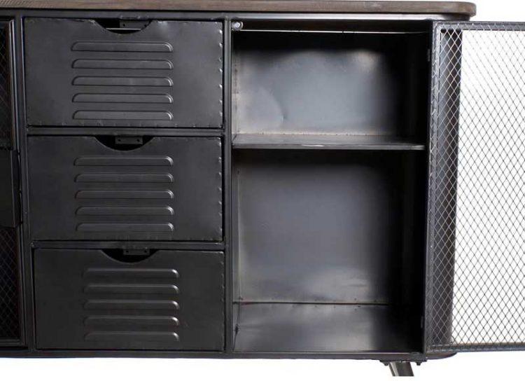 aparador-industrial-pequeño-puertas-malla-abierto