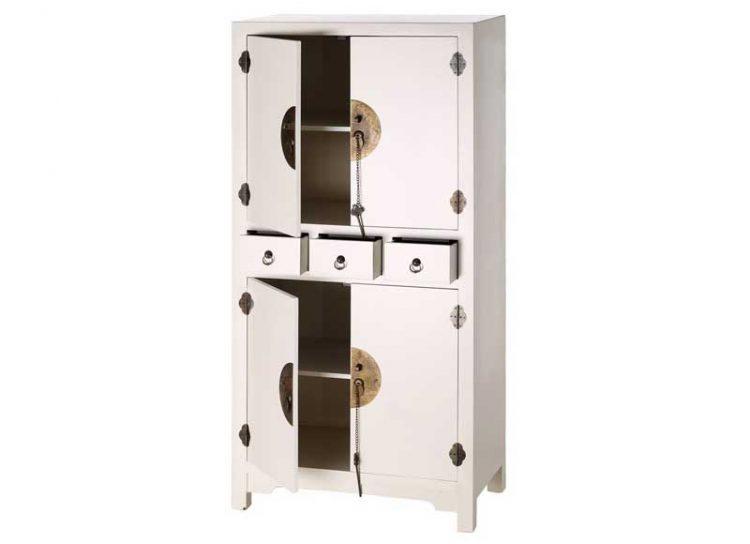 armario-oriental-blanco-pequeño-4-puertas-abierto
