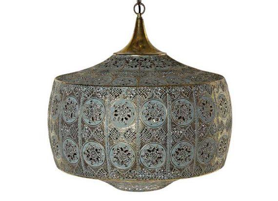 lampara-techo-arabe-dorada