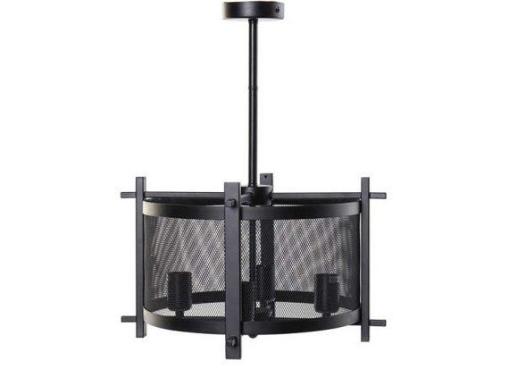 lampara-techo-pantalla-metal-brazos