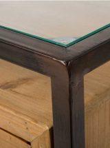 mesilla-noche-industrial-madera-cristal-dos-cajones-detalle
