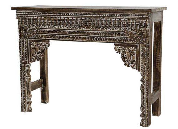 consola-hindu-tallada-marron-envejecida