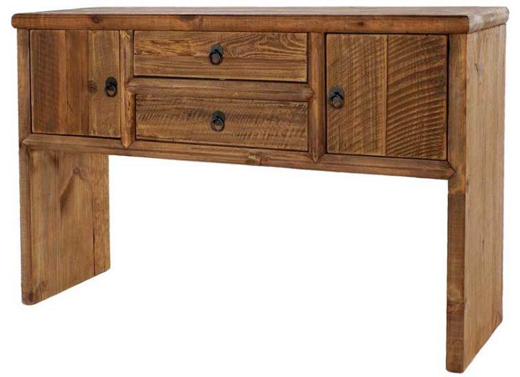 consola-rustica-madera-maciza-reciclada-puertas-cajones