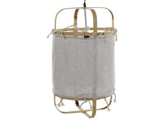 lampara-techo-nordica-tela-bambu