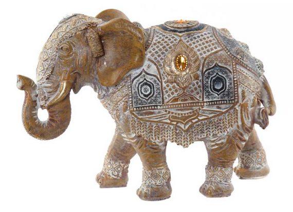 figura-elefante-marron-incrustaciones