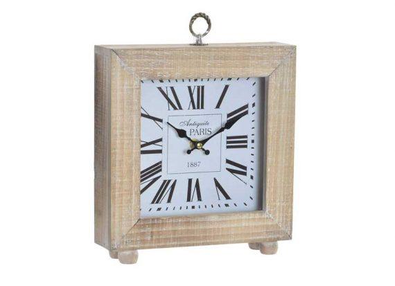 reloj-sobremesa-cuadrado-madera-natural-fondo-blanco