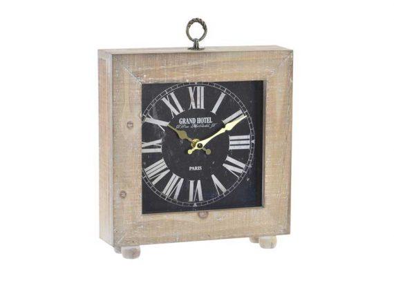 reloj-sobremesa-cuadrado-madera-natural-fondo-negro