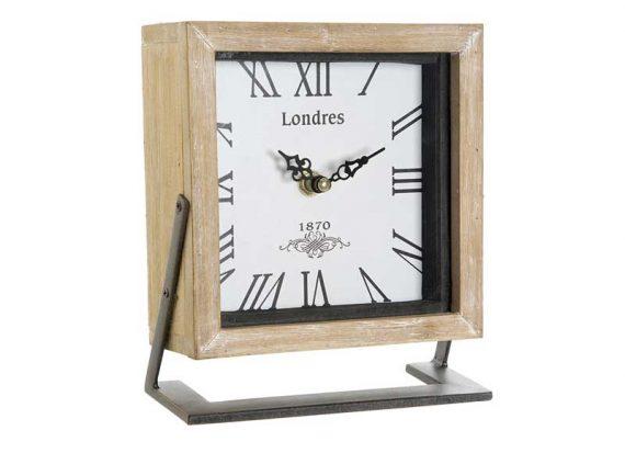 reloj-sobremesa-cuadrado-madera-natural-metal