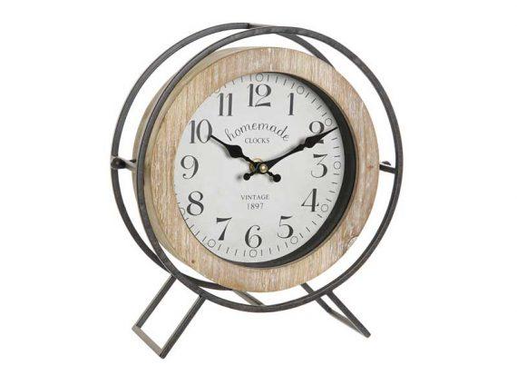 reloj-sobremesa-redondo-madera-natural-metal