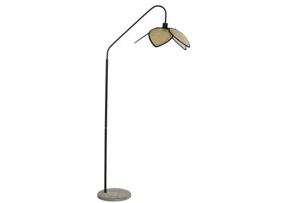 lampara-suelo-arco-pantalla-rattan
