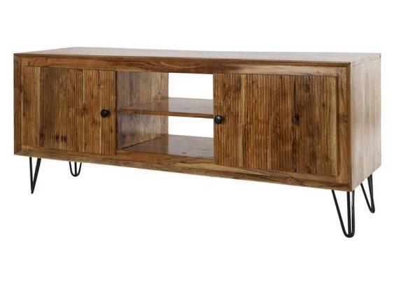 mueble-television-rustico-madera-acacia-patas-metal