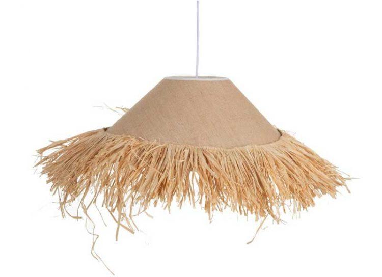 lampara-techo-lino-fibra-natural