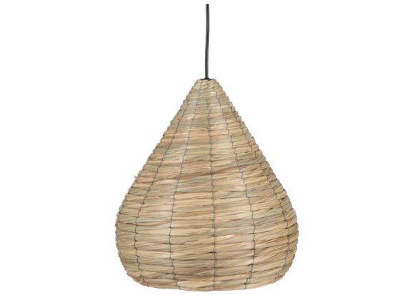 lampara-techo-pequeña-fibra-natural