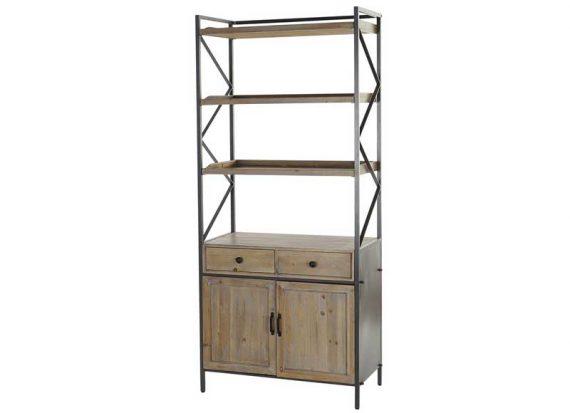 estanteria-rustica-madera-metal-puertas