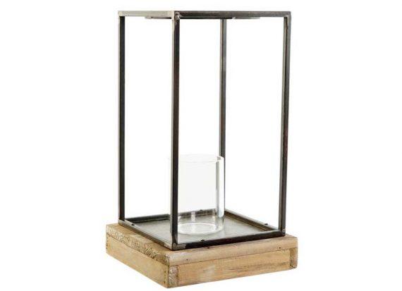 farol-vela-cristal-metal-envejecido-base-madera