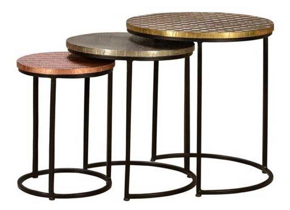 mesas-nido-metal-tallado