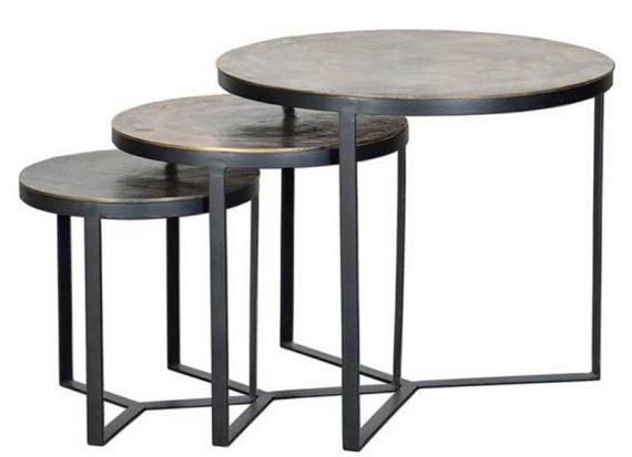 mesas-nido-redondas-metal-tapa-bronce