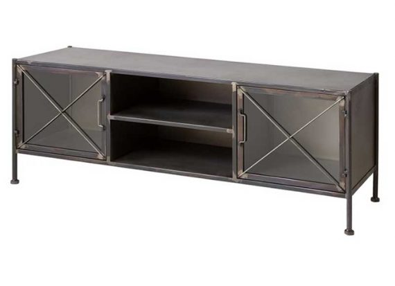 mueble-television-industrial-metal-envejecido-puertas-cristal