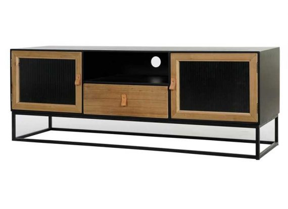 mueble-television-industrial-metal-negro-natural