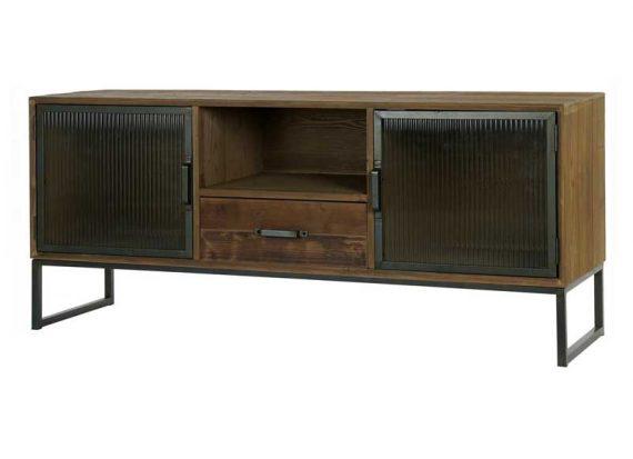 mueble-television-industrial-puertas-cristal