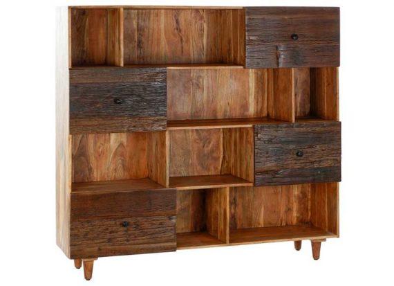 estanteria-rustica-madera-reciclada-cajones