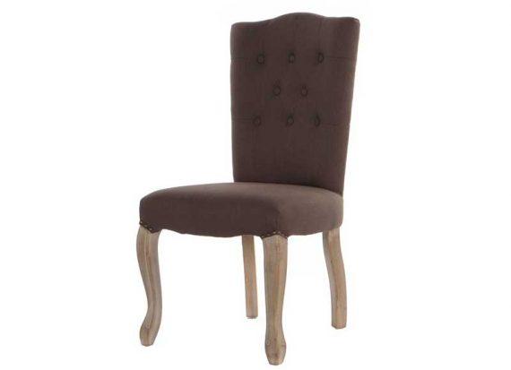 silla-diseño-capitone-marron-tirador-trasera-respaldo