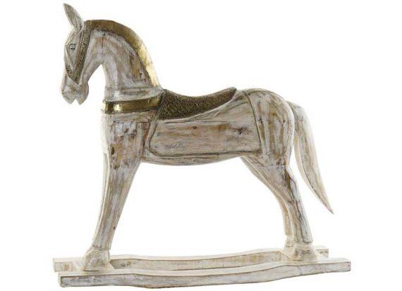 figura-grande-caballo-madera-laton