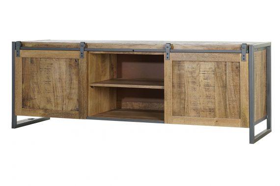 mueble-television-industrial-puertas-madera-correderas