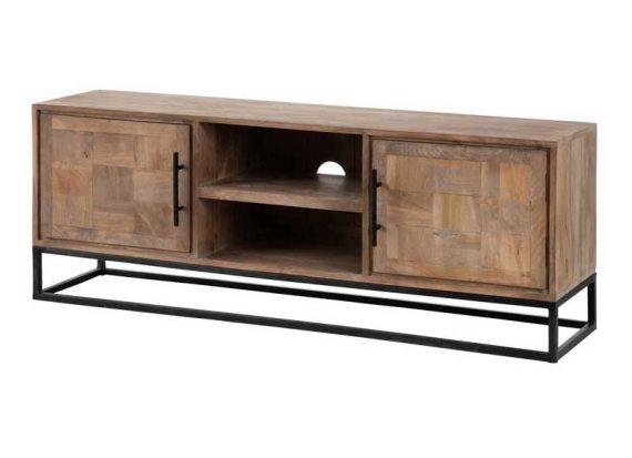 mueble-television-madera-natural-puertas-base-metal