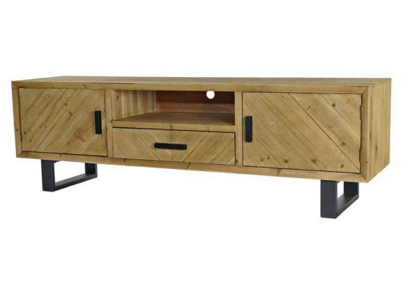 mueble-television-rustico-patas-tiradores-metal