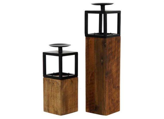 portavelas-rustico-madera-metal