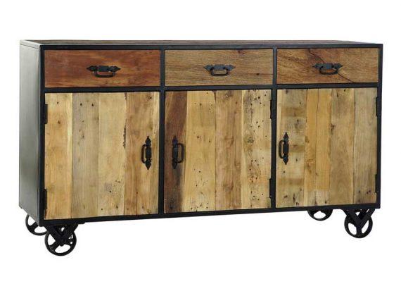 aparador-industrial-madera-reciclada-ruedas