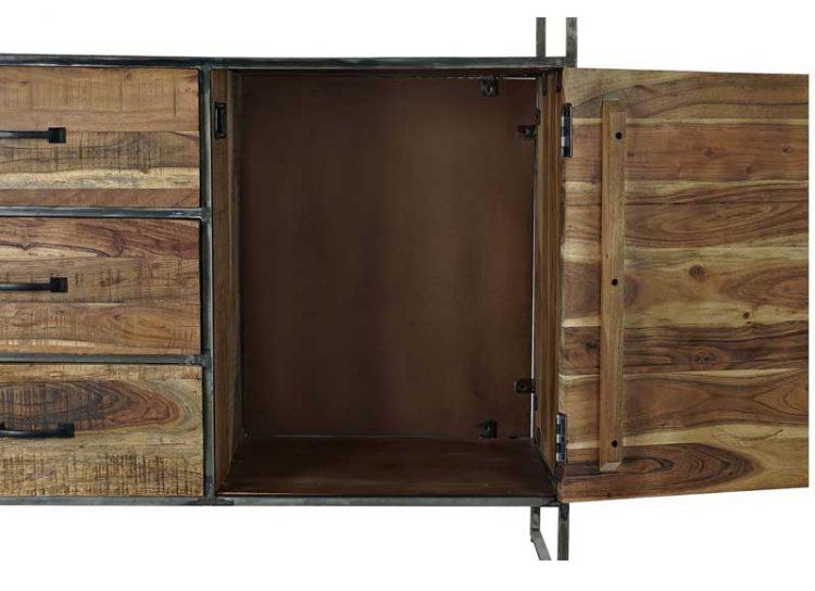 aparador-rustico-madera-metal-hueco-superior-abierto