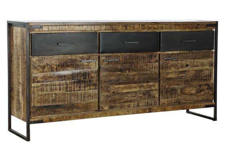 aparador-rustico-madera-natural-cajones-negros