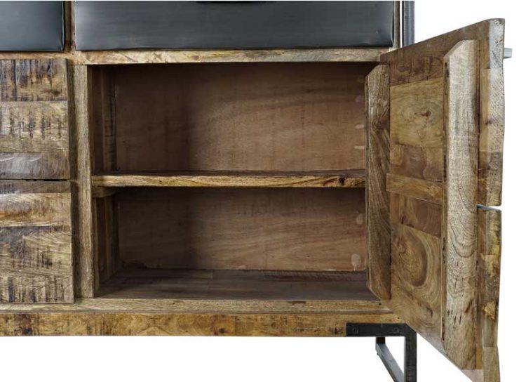 aparador-rustico-madera-natural-cajones-negros-abierto