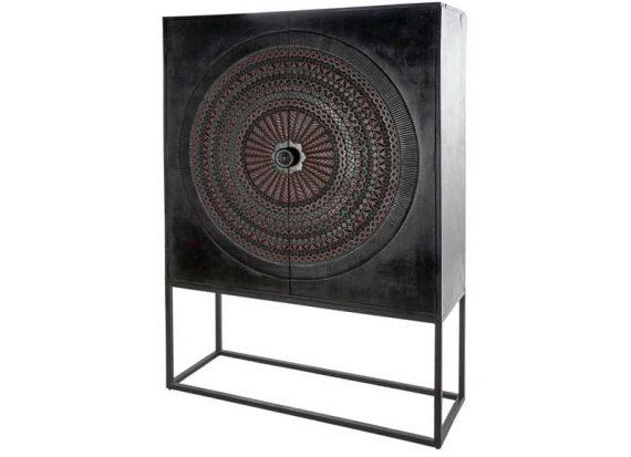 armario-mandala-tallado-madera-negro