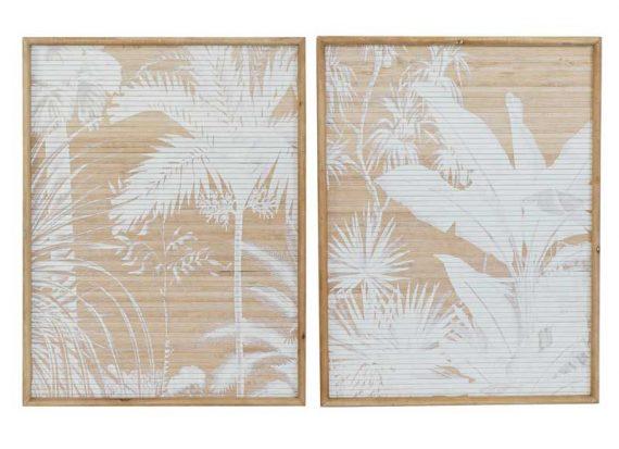 cuadros-nordicos-palmeras-madera-natural