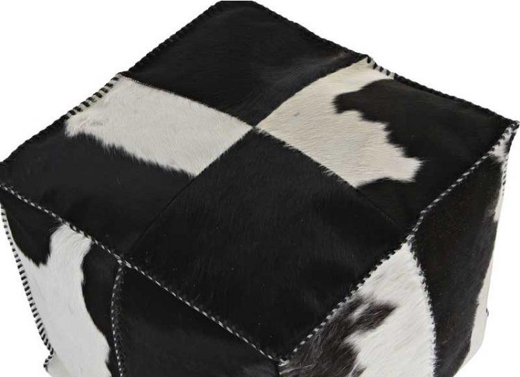 puff-pelo-vaca-blanco-negro-detalle