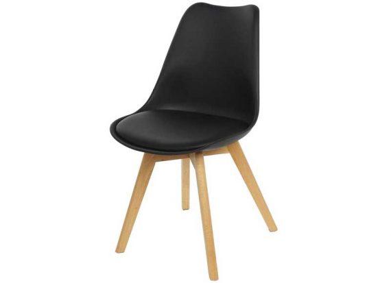 silla-nordica-acolchada-negra