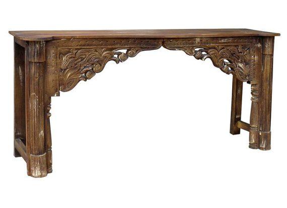 consola-oriental-marron-arco-tallado