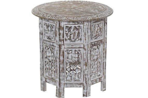 mesa-auxiliar-arabe-madera-marron-blanca-tallada