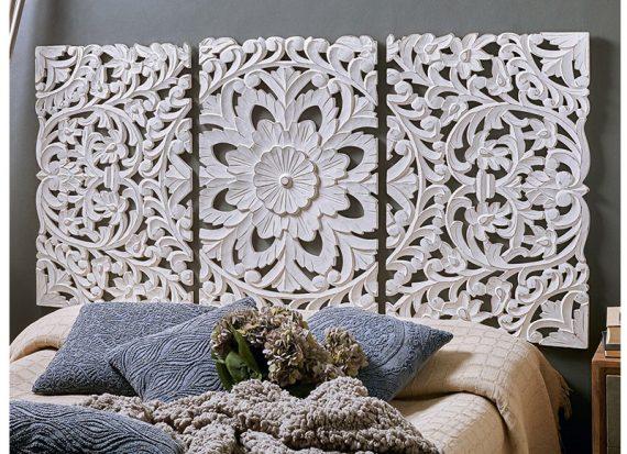 cabecero-madera-tallado-blanco-triptico