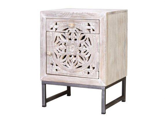 mesita-noche-oriental-tallada-mandala-blanco