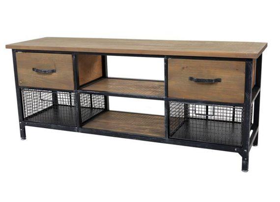 mueble-television-industrial-cajones-rejilla-metal