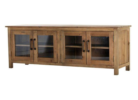 mueble-television-rustico-natural-puertas-cristal