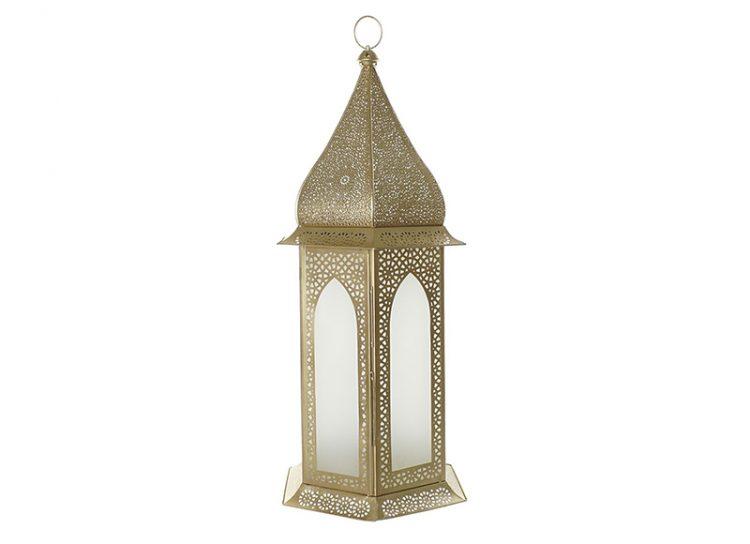 lampara-suelo-arabe-metal-calado-cristal